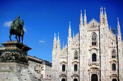 Duomo square, Milan Royalty Free Stock Photography