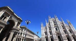 Duomo square, Milan stock photography