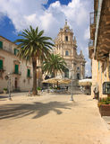 Duomo Square in Ragusa Ibla Sicily Italy Stock Photography