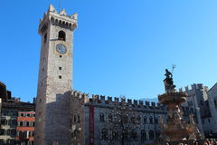 Duomo Square in Trento, Italy Stock Photo