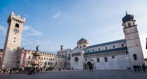 Duomo square in Trento, Trentino Alto-Adige (Italy). View of Duomo square in Trento (Italy Stock Photos