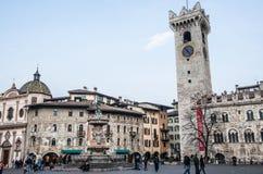 Duomo square in Trento, Trentino Alto-Adige (Italy). View of Duomo square in Trento (Italy Royalty Free Stock Images