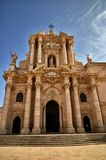 Ortigia island in Syracuse, Sicily, the cathedral Stock Photography