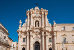 Duomo of Syracuse in Southern Sicily, Italy Stock Images