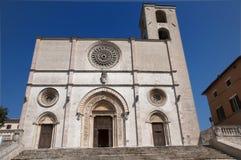 Duomo of Todi. Facade of Duomo of Todi, Italy royalty free stock photos