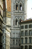 The duomo and the tower of florence Royalty Free Stock Images