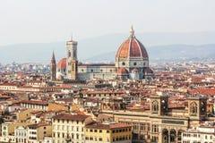 Duomo und Ansicht von Florenz in Italien Stockfotografie