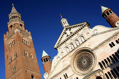 Duomo und torrazzo, Cremona, Italien Lizenzfreie Stockfotografie