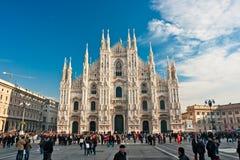 Duomo van Milaan, Italië. Royalty-vrije Stock Afbeeldingen