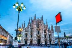 Duomo van Milaan, Italië Stock Afbeeldingen