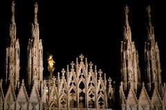 Duomo van Milaan - kathedraalvierkant Stock Afbeeldingen