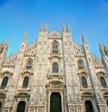 Duomo van Milaan met blauwe hemel Royalty-vrije Stock Afbeelding