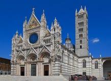 Duomo van Siena, één van de mooiste Gotische kathedralen in Italië Stock Foto's