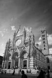 Duomo van Siena De Zwart-witte foto van Peking, China Stock Fotografie