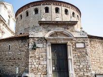 Duomo Vecchio (Rotonda, vieille cathédrale) à Brescia images libres de droits