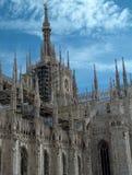 Duomo view. Milan Duomo historic site view Stock Photo