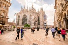Duomo w Mediolańskim mieście Obrazy Stock