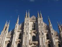 Duomo znaczenia katedra w Mediolan Obrazy Royalty Free