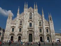 Duomo znaczenia katedra w Mediolan Obrazy Stock
