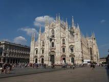 Duomo znaczenia katedra w Mediolan Obraz Royalty Free