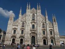 Duomo znaczenia katedra w Mediolan Fotografia Royalty Free