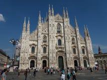 Duomo znaczenia katedra w Mediolan Obraz Stock