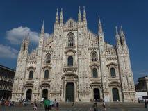 Duomo znaczenia katedra w Mediolan Zdjęcie Stock