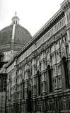 Duomo in zwarte royalty-vrije stock afbeelding