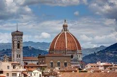 Duomobasilikadi Santa Maria del Fiore Florence Firenze Tuscany Italien Arkivbild