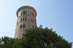 DuomoCampanile av Ravenna Arkivfoto
