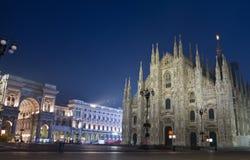 Duomodi Milaan en Galleria Vittorio Emanuele Royalty-vrije Stock Afbeeldingen