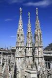 Duomodi milano, milan domkyrka Arkivbild