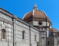 Duomodomkyrka; Florence Italien; Detalj Royaltyfri Foto