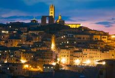 Duomodomkyrka i mitten av Siena italy tuscany Royaltyfri Fotografi