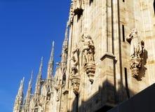 Duomodomkyrka, Milan, Italien Arkivfoton