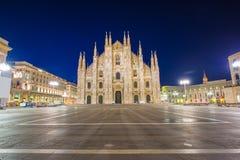 Duomoen av Milan Cathedral i Milan, Italien arkivfoto