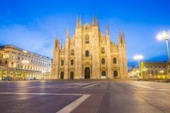 Duomoen av Milan Cathedral i Milan, Italien royaltyfri foto