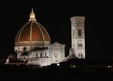 Duomoen och Giottos det Klocka tornet Florence, Italien Arkivfoton
