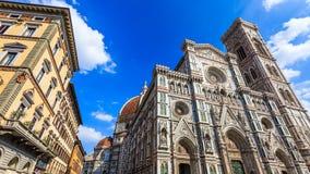 Duomokathedraal en klokketoren in Florence, Italië Stock Foto's