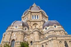 Duomokathedraal van Cerignola. Puglia. Italië. stock foto's