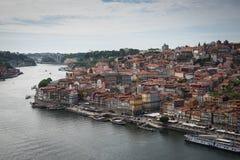 Duoro从上面的河视图 免版税库存照片
