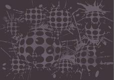 Duoton background blot balls Stock Photos