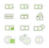 Duoton del icono del dinero Fotos de archivo