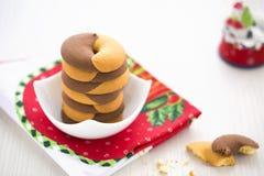 Duoton Donut-Plätzchen für Neujahrstag Lizenzfreie Stockfotografie