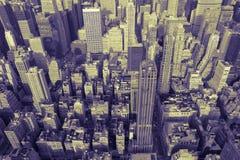 duotone曼哈顿地平线 免版税库存照片