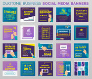 Duotone business social media banners Royalty Free Stock Images