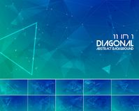 Duotone diagonal line abstract background 3. Polygonal line and low poly abstract background. Suitable for web background and design element Royalty Free Stock Photos