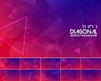 Duotone diagonal linje abstrakt begreppbakgrund 2 Arkivbilder