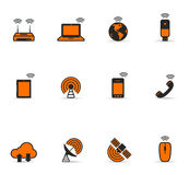 Duotone Icons - Wireless World Stock Image