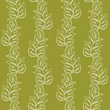 Duotone Pattern With Leaves Royalty Free Stock Image